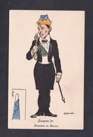 Politique Caricature Ill. Laborde Jacques 1er ( Lebaudy ) Empereur Du Sahara Pince Sucre Pain Industrie Sucriere - Satirical