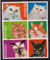 NICARAGUA - 1984 - Mi.Nrs. 2482....2487 - Katten  - Gestemp./Oblit - ° - Nicaragua