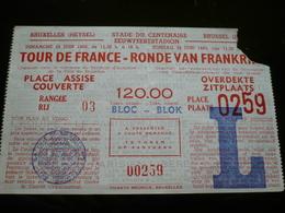 Tour De France 1960 Ronde Van Frankrijk Heysel 1960 Ticket - Tickets - Vouchers