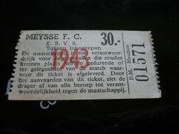 Voetbal Ticket F C Meise - Tickets D'entrée