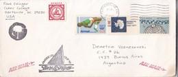 SOBRE ENVELOPE VIA AIR CIRCULEE USA TO ARGENTINE CIRCA 1987 AUTRES MARQUES- BLEUP - United States