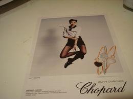 PUBLICITE AFFICHE HAPPY DIAMONDS CHOPARD - Bijoux & Horlogerie