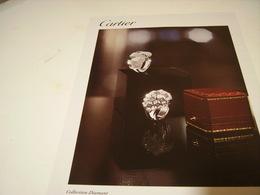 ANCIENNE PUBLICITE BOUTIQUE CARTIER COLLECTION DIAMANTS - Bijoux & Horlogerie