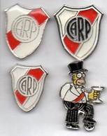 Football, Soccer, Calcio, RIVER PLATE Team From Argentina, 4 Pins - Football