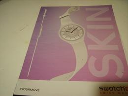 PUBLICITE AFFICHE MONTRE SWATCH SKIN - Bijoux & Horlogerie