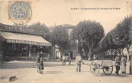 30-ALAIS- LE ROND-POINT ET L'AVENUE DE LA GARE - Alès