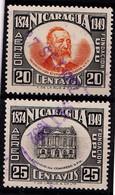 NICARAGUA - 1950 - Mi.Nrs. 1016 En 1017 Of Y.T Nrs. 281 En 282 - Gestemp./Oblit./Used/Gebraucht. - ° - Nicaragua