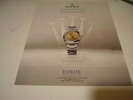 PUBLICITE AFFICHE MONTRE ROLEX OYSTER PERPETUAL - Bijoux & Horlogerie