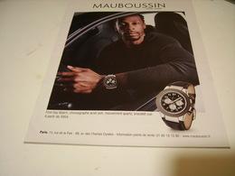 PUBLICITE AFFICHE MONTRE MAUBOUSSIN - Jewels & Clocks
