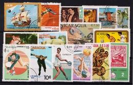 NICARAGUA - LOTJE RESTANTEN - MIXT  Gestemp./Oblit./Used/Gebraucht. - ° - Nicaragua