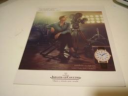 PUBLICITE AFFICHE  MONTRE JAEGER-LECOULTRE AVEC CARMIN CHAPLIN - Bijoux & Horlogerie