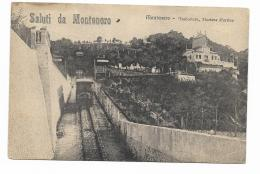 SALUTI DA MONTENERO - FUNICOLARE STAZIONE D'ARRIVO 1910 -   VIAGGIATA FP - Livorno