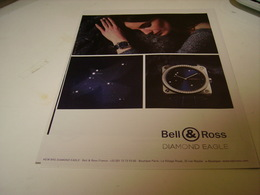 PUBLICITE AFFICHE  MONTRE BELL&ROSS DIAMOND EAGLE - Jewels & Clocks