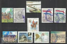 TEN AT A TIME - PARAGUAY - LOT OF 10 DIFFERENT COMMEMORATIVE  3 - POSTALLY USED OBLITERE GESTEMPELT USADO - Paraguay