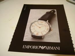 PUBLICITE AFFICHE MONTRE EMPORIO ARMANI - Bijoux & Horlogerie