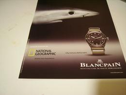 PUBLICITE AFFICHE MONTRE BLANCPAIN - Bijoux & Horlogerie