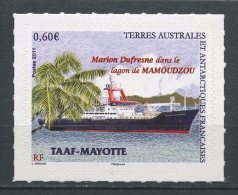 TAAF 2011  N° 601 ** Neuf MNH Superbe Navire Marion Dufresne Lagon De Mamoudzou Mayotte Océanographie Bateaux Boats - Nuovi