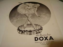 ANCIENNE PUBLICITE MONTRE DOXA 1942 - Jewels & Clocks