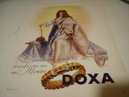 ANCIENNE PUBLICITE MONTRE DOXA POLITESSE DES ROYS 1946 - Jewels & Clocks