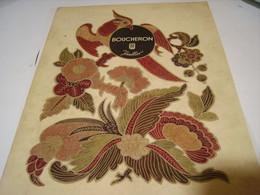 ANCIENNE PUBLICITE JOAILLIER  BOUCHERON 1946 - Jewels & Clocks
