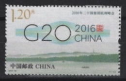 China (2016) - Set - #25  /  G20 - UNUSUAL Silk - 1949 - ... Repubblica Popolare