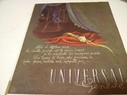 ANCIENNE PUBLICITE MONTRE UNIVERSAL 1946 - Jewels & Clocks