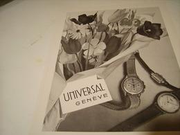 ANCIENNE PUBLICITE MONTRE UNIVERSAL 1941 - Autres