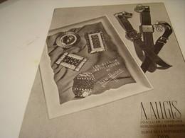 ANCIENNE AFFICHE PUBLICITE BIJOUX MONTRE  A. AUGIS 1941 - Bijoux & Horlogerie