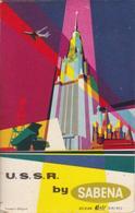 ANTIGUA ETIQUETA DE LA COMPAÑIA AEREA SABENA (AVION-PLANE) USSR - UNION SOVIETICA - Étiquettes à Bagages