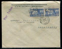 Cote D 'Ivoire - Enveloppe Commerciale De Bobo Dioulasso Pour Casablanca En 1942 Par Avion - Côte-d'Ivoire (1892-1944)