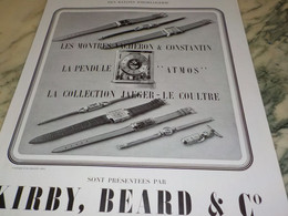 ANCIENNE PUBLICITE MONTRE KIRBY.BEARD 1939 - Jewels & Clocks
