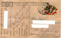 B 2051 - Cartolina Franchigia Militare 1914-18 - 1914-18