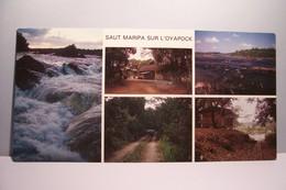 GUYANE   - SAUT  MARIPA  SUR  L'OYAPOCK  - MULTIVUES -  CARTE GRAND FORMAT -  ( Pas De Reflet Sur L'original ) - Guyane