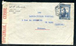 Mozambique - Enveloppe Commerciale De Lourenço Marqués Pour La France En 1940 Avec Contrôle Postal - Mozambique