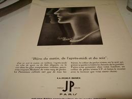 ANCIENNE PUBLICITE PERLE IRISE DE JP   1929 - Jewels & Clocks