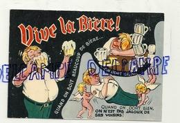 Vive La Bière. Quand On Boit Beaucoup ... Pile De Verres Vides, Petits AngesDessin De R. Allouin. Cimcrome CIM - Humor