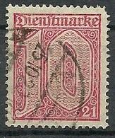 Allemagne - Année 1920 - Y & T  Service N° 10 Oblitérés - Voir Scan Verso - Service