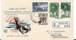 AA020 / FDC Einschreiben Mawson Station 1959 - Territoire Antarctique Australien (AAT)
