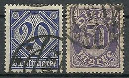 Allemagne - Année 1920 - Y & T  Service N° 12-14 Oblitérés - Service