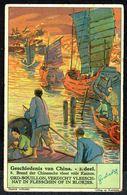 LIEBIG - NL - 1 Chromo N° 6 - Série/Reeks S 1276 - GESCHIEDENIS VAN CHINA: Brand Der Chineesche Vloot Door Kanton - Liebig