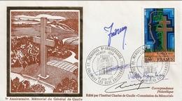 Fdc21-ENVELOPPE PREMIER JOUR DU TIMBRE MEMORIAL DE GAULLE N°1941 - FDC