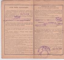 MILITARIA - LIVRET INDIVIDUEL MILITAIRE - CLASSE 1911 - BUREAU DE PARTHENAY - ETABLIE LE 30 MARS 1922 - Documentos