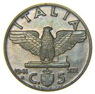 [NC] ITALIA - REGNO - VITTORIO EMANUELE III - 5 CENTESIMI IMPERO 1941 - 1861-1946 : Regno