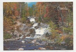 La Beauté Des Lieux Sauvages Du Canada. Cascade Dans Une Forêt. - Cartes Modernes