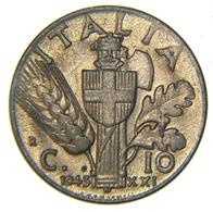 [NC] ITALIA - REGNO - VITTORIO EMANUELE III - 10 CENTESIMI IMPERO 1943 - 1861-1946 : Regno