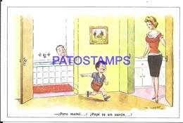 96807 ARGENTINA ART ARTE SIGNED GREAN HUMOR THE MAN IN THE BATHTUB POSTAL POSTCARD - Argentinien