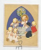 Mignonnette Double De Baptême. Fonts Baptismaux, Anges Et Petits Enfants. - Geboorte
