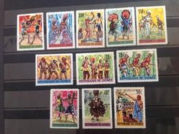 Guinea / Guinee 1966 Dances Mint SG 519-23 561-6 Yv 255-9 287-92 - Guinea (1958-...)