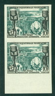 AEF Fides 190 Non Dentele, Neuf** Sans Charniere, Imperf Pair, Mint NH, - Unused Stamps