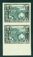 AEF Fides 190 Non Dentele, Neuf** Sans Charniere, Imperf Pair, Mint NH, - A.E.F. (1936-1958)